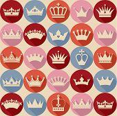 pic of crown jewels  - Seamlees crowns pattern - JPG