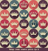 pic of crown jewels  - Seamless abctract crowns pattern - JPG