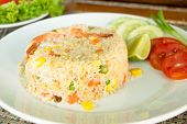 picture of thai food  - Shrimp Fried Rice - JPG