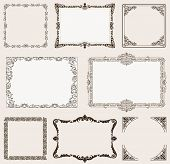 picture of scroll design  - background set - JPG