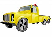 foto of tow-truck  - tow truck car isolated on a white background - JPG