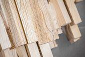 image of lumber  - Wooden beams and planks - JPG