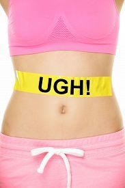 foto of hurt  - UGH my stomach hurts concept  - JPG
