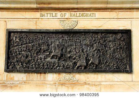 Panel Of Battlefield Scene