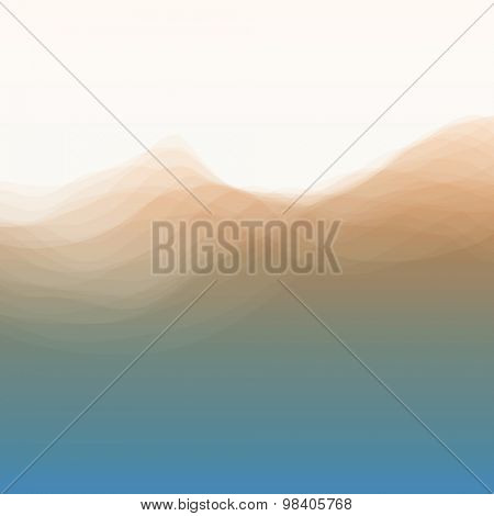 Water Wave. Vector Illustration For Your Design. Flowing Background With Halftone. Can Be Used For Banner, Flyer, Book Cover, Poster, Web Banners.