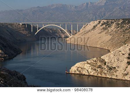 Bridge over maslenica gorge