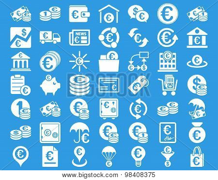 Euro Banking Flat Icon Collection