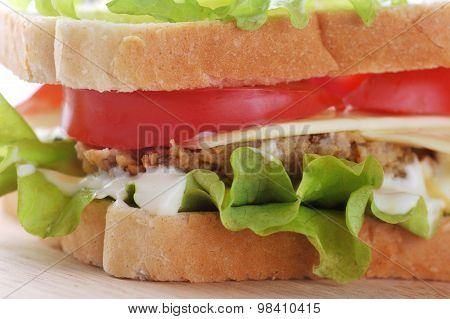 Sandwich With  Cutlet