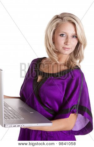 Purple Top With Computer