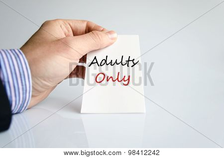 Adults Only Text Concept