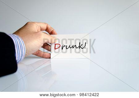 Drunk Text Concept