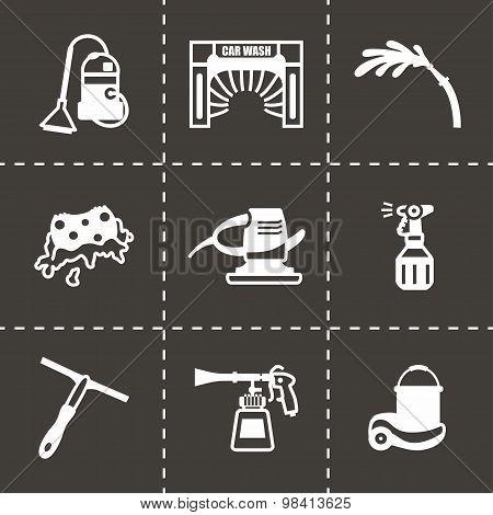 Vector Car wash icon set