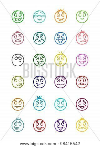 24 Smiles Icons Set 10