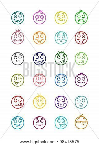 24 Smiles Icons Set 4