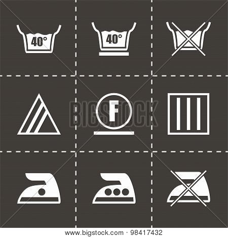 Vector Washing signs icon set