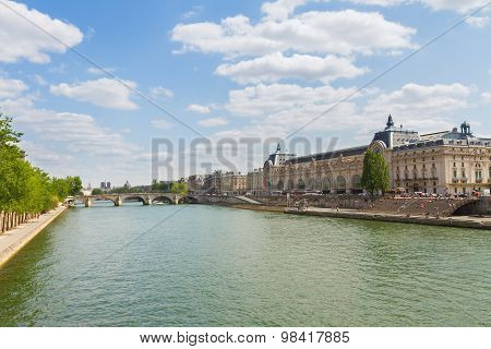 Orsay museum and river Siene, France
