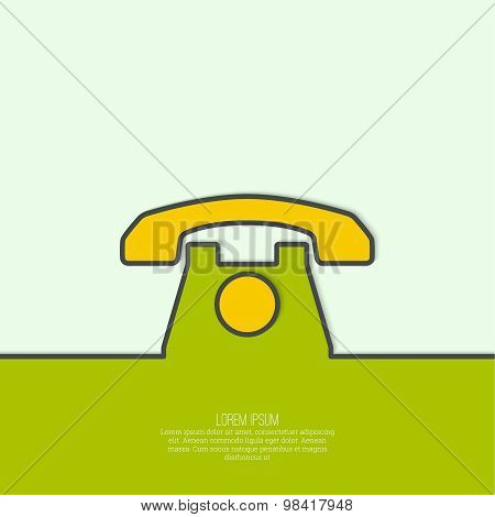 Abstract background with  old  telephone.