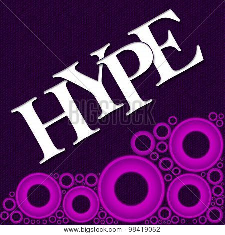 Hype Text Purple Pink Rings