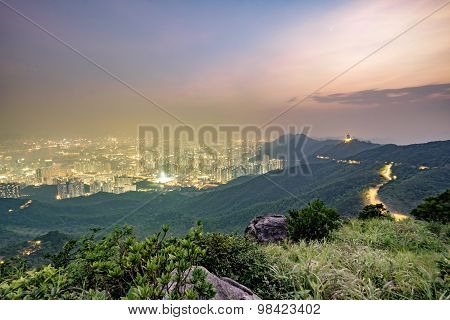 Hong Kong Sunset from Fei Ngo Shan Hill