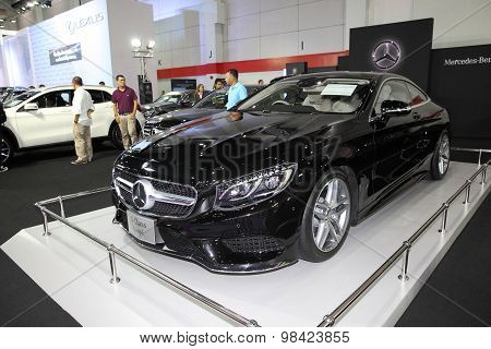 Bangkok - August 4: Mercedes Benz S-class Co[pe Car On Display At Big Motor Sale On August 4, 2015 I