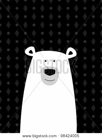 Cartoon white polar bear