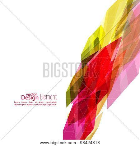 Angular geometric color shape