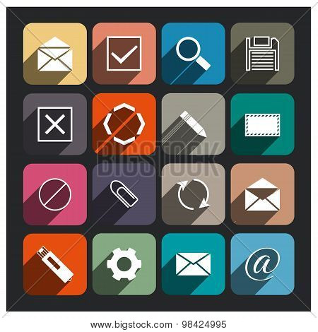 E-mail Icon, Vector Illustration.