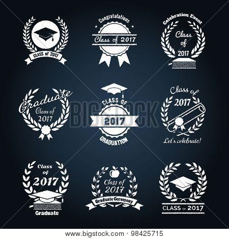 Graduation class badges