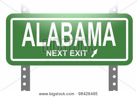 Alabama Green Sign Board Isolated