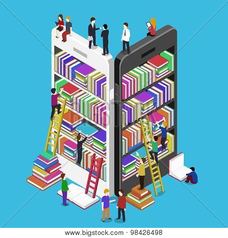 Isometric online mobile library