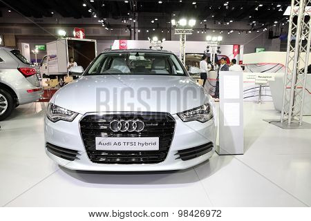 Bangkok - August 4: Audi A6 Tfsi Hybrid Car On Display At Big Motor Sale On August 4, 2015 In Bangko