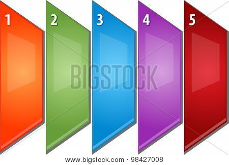 blank business strategy concept infographic diagram perspective panels numbered points illustration five 5