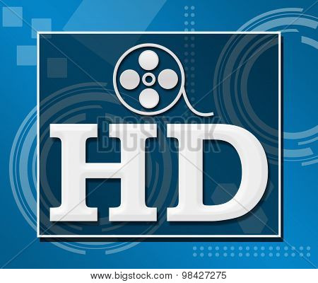 HD Over Abstract Blue Background