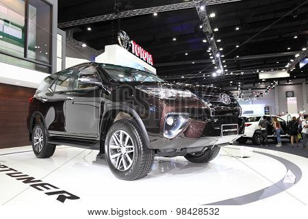 Bangkok - August 4: Toyota Fortuner Car On Display At Big Motor Sale On August 4, 2015 In Bangkok, T