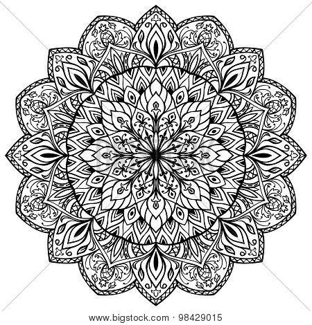 Hand-drawn Mandala.