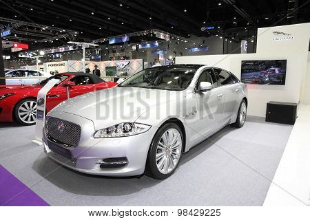 Bangkok - August 4: Jaguar Xj Car On Display At Big Motor Sale On August 4, 2015 In Bangkok, Thailan