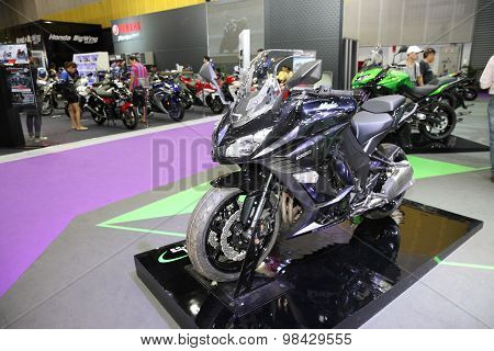 Bangkok - August 4: Kawasaki Ninja 1000 Motorcycle On Display At Big Motor Sale On August 4, 2015 In