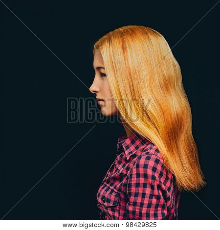 Fashionable Attractive Blonde Girl