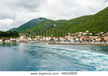 Entering By Ferry In A Small Town Trpanj In Southern Dalmatia In Croatia