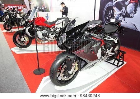 Bangkok - August 4: Agusta F3 Motorcycle On Display At Big Motor Sale On August 4, 2015 In Bangkok,