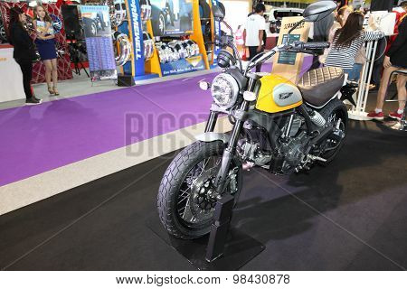 Bangkok - August 4: Ducati Scrambler Motorcycle On Display At Big Motor Sale On August 4, 2015 In Ba