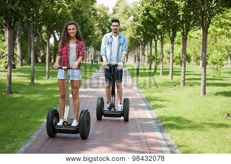 Concept for couple using segway