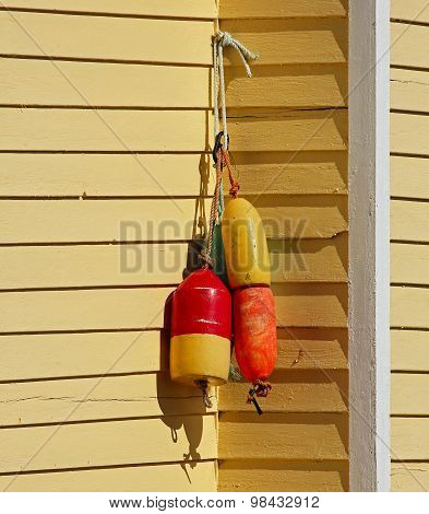 Fishing Buoys House Shingles Yellow