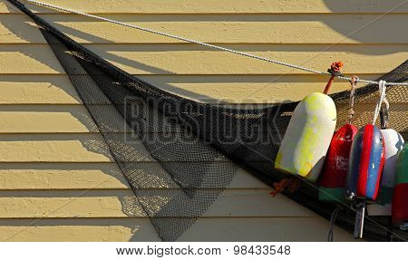 Fishing Buoys Net House Wall