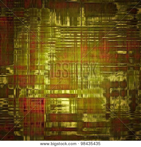Old grunge antique texture. With different color patterns: yellow (beige); brown; green; pink