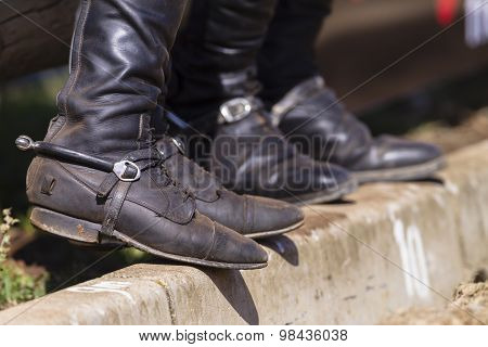 Riders Boots Spurs
