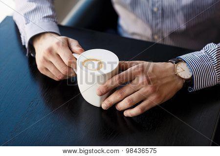 Businessman taking a break