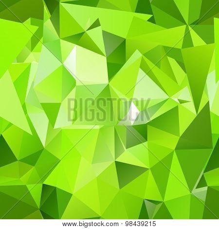 Seamless Green Polygonal Mosaic Background.
