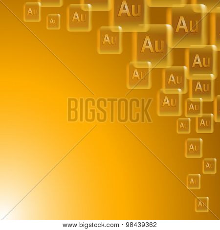 Background With Bars Of Gold. Vector Illustration.