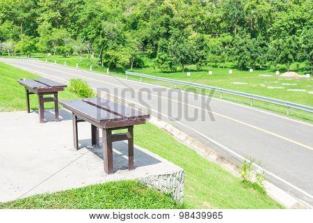 Twin Wood Chairs